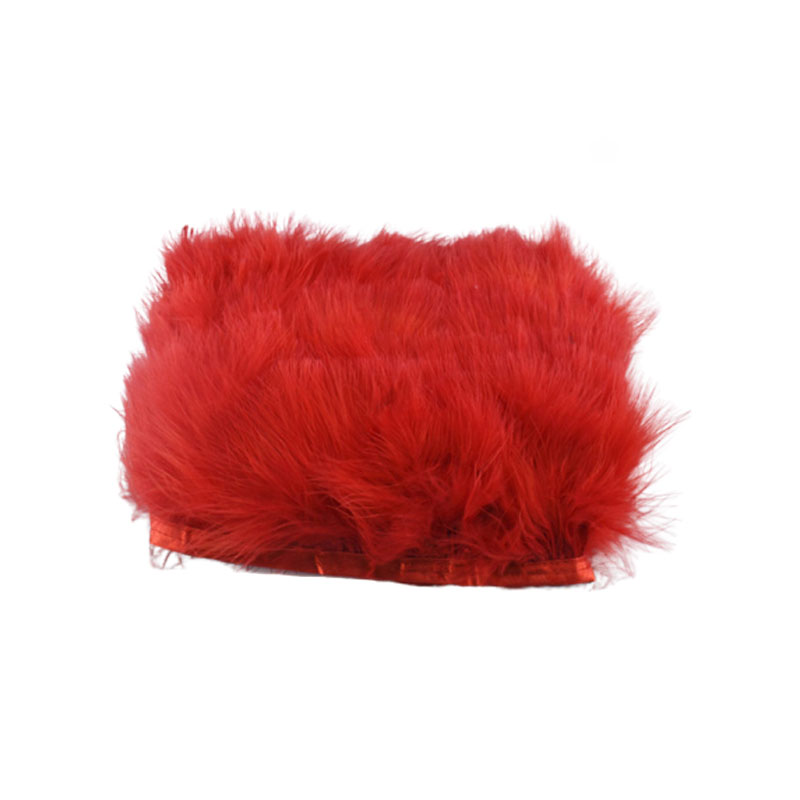 BAG RED MARABOU FEATHERS FOR CARDS OR CRAFTS