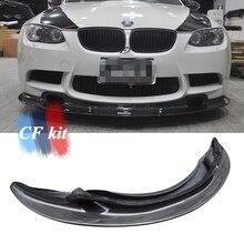 CF комплект из настоящего углеродного волокна GT4 стиль передний спойлер для губ добавить губы для BMW E90 E92 E93 M3 бампер 2008-2013 автомобильный Стайлинг