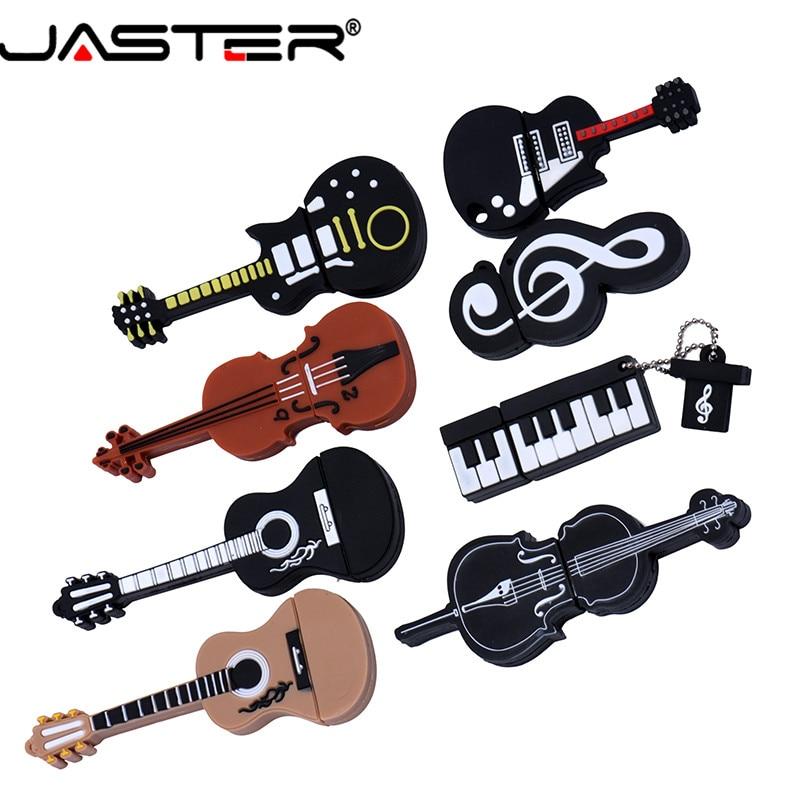 JASTER USB 2.0 New Cute Instrument  Flash Drive Usb Pen Drive 4gb 8gb 16gb 32gb 64gb Guitar Keyboard Violin Thumb Memory Stick