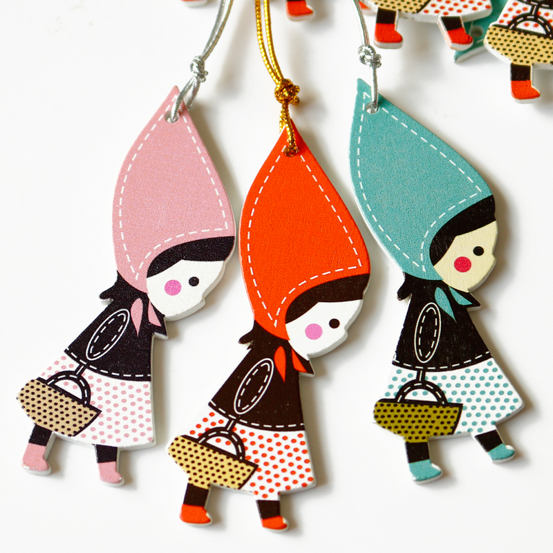 20pcs Cartoon Little Girls Wood Bookmarks Cute DIY Scrapbooking Stationery Supplies Accessories Party Decoration Gift Tags