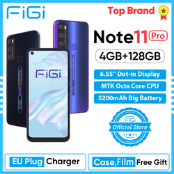 FIGI Примечание 11 Pro 6,55 ''Дисплей мобильный телефон Android 10 OS смартфон 4 Гб Оперативная память 128 Гб Встроенная память Redmi телефон umidigi cubot сим бесп...