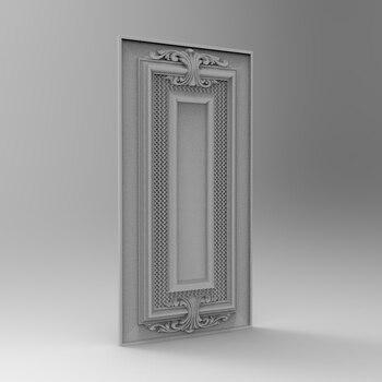 Square Panel Relief 3D Model STL Format File CNC Router Carving ArtCAM Aspire Type3 JDpaint Engraving Carving File A2009