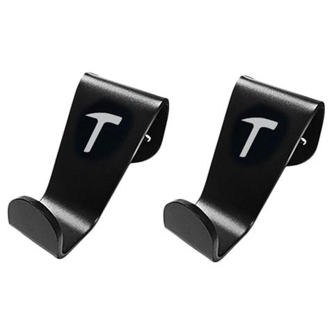 2 x assento de carro encosto de cabeca gancho cabide titular apto para tesla model