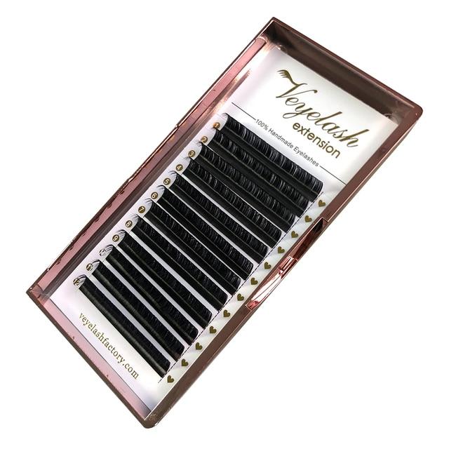 Veyelash Custom Your Logo Individual Eyelash Extension Silk Lashes Russian Volume Classic Eyelash Extensions 2
