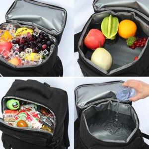 Image 3 - DENUONISS 절연 피크닉 배낭 온도 맥주 쿨러 가방 여성용 냉장고 어린이 열 가방 2 구획 야외 하이킹