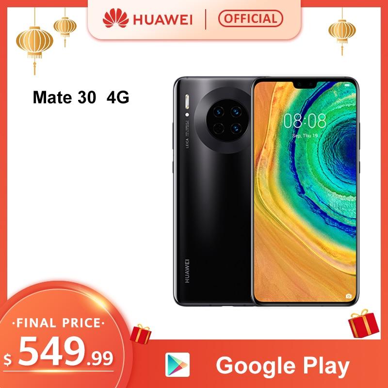 Original HUAWEI Mate 30 8GB 128GB Kirin 990 Smartphone 40MP Triple Cameras 24MP Front Camera 6.62'' Full Screen 27W Wireless QC