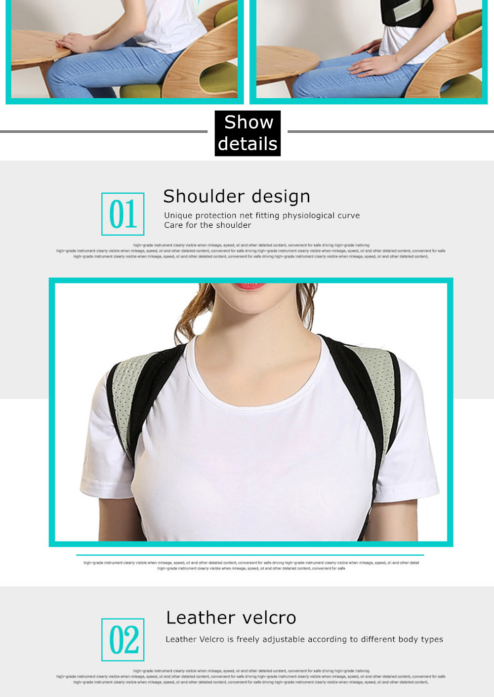 Tlinna Posture Corrector Belt with Adjustable Dual Strap Design to Get Perfect and Confident Body Posture Suitable to Wear Under or Over Clothing 30