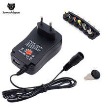 Универсальный адаптер 12V 3V 4,5 V 5V 6V 7,5 V 9V 2A 2.5A Регулируемый адаптер питания AC/DC зарядное устройство для Светодиодный светильник 30W