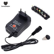 Universal Adapter 12V 3V 4.5V 5V 6V 7.5V 9V 2A 2.5A Adjustable Power Adapter AC/DC Charger Supply for led light strip lamp 30W