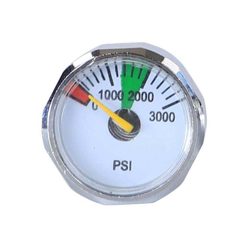 5000 PSI Mini Micro Paintball Air CO2 Tank Pressure Gauge 1//8NPT Threads