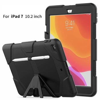 Case For iPad 7 10.2 2019 7th Gen A2200 A2197 Tablet Shockproof Hard Case Military Heavy Duty Silicone Rugged Stand Back Cover