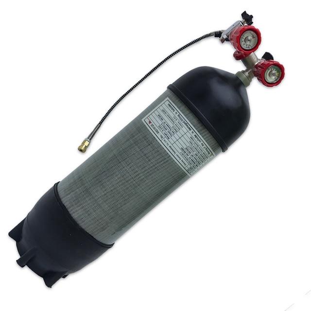 AC10910191 Acecare 9L 4500Psi האפ דחוס סיבי פחמן PCP עבור ירי Airsoft חיל האוויר עם שסתום & מילוי תחנה
