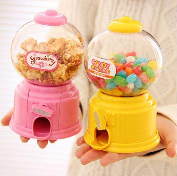 Diy doces do bebê favores doce máquina de doces colorido mealheiro caixa moeda de poupança para cozinha cozimento decoração crianças presentes