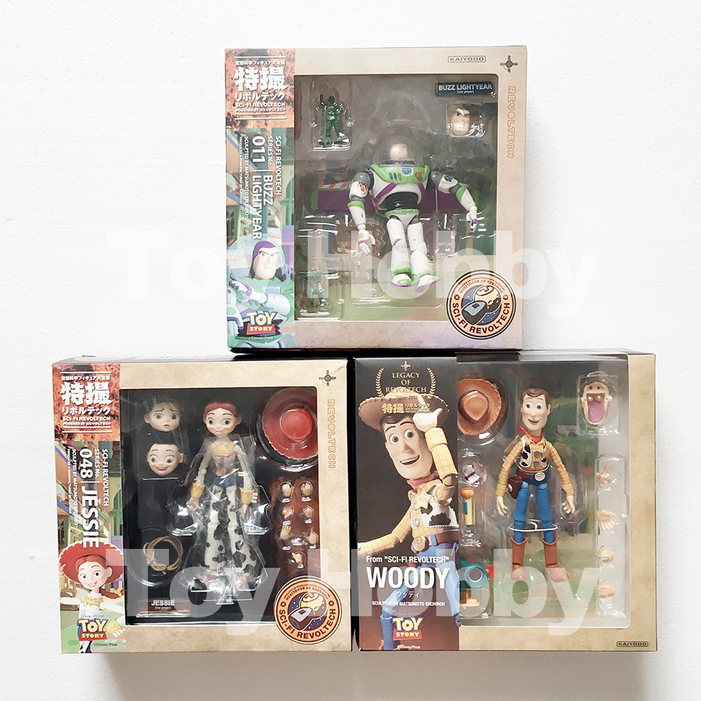 Revoltech Sci-Fi Special Movie Jeesie Woody Talking Buzz Lightyear Action Figure Model Toy Doll Gift
