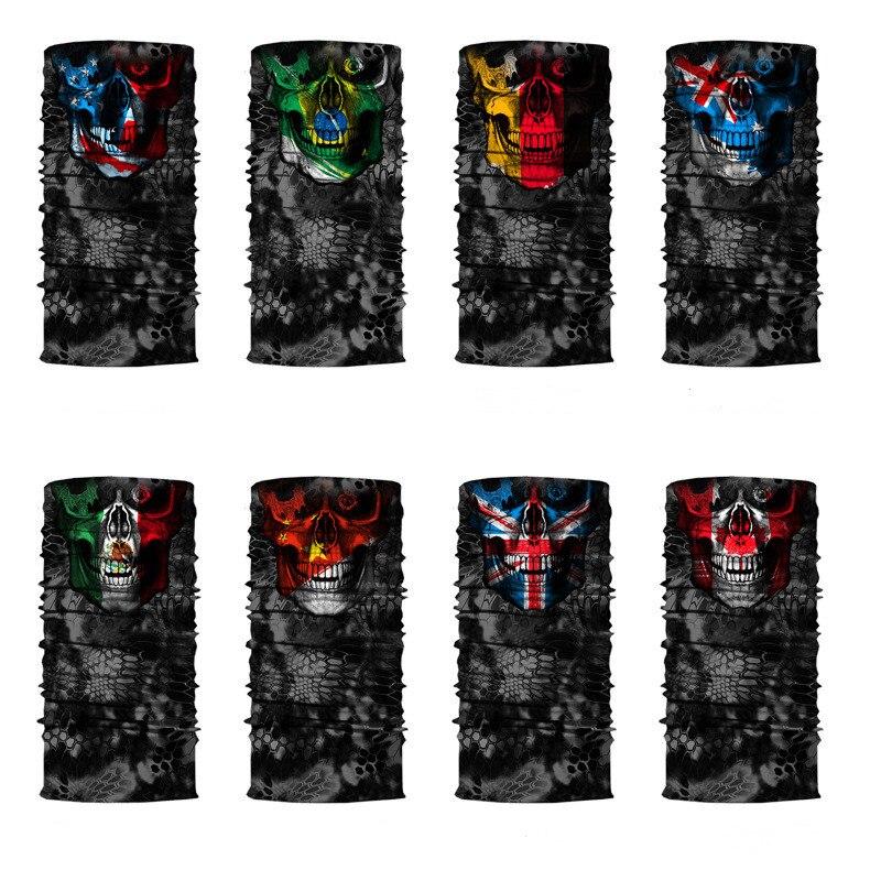 Seamless Balaclava Magic Scarf Neck Face Cover Ghost Skull Skeleton Head Bandana Shield Headband Headwear Bandanas