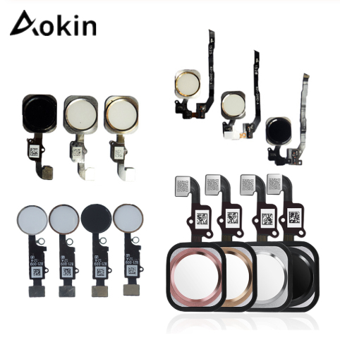 Aokin 1pcs Home Button With Flex Cable For IPhone 5 5C 5S 6 6Plus 6s Plus 7 7Plus Home Button Flex Assembly For Iphone 6s