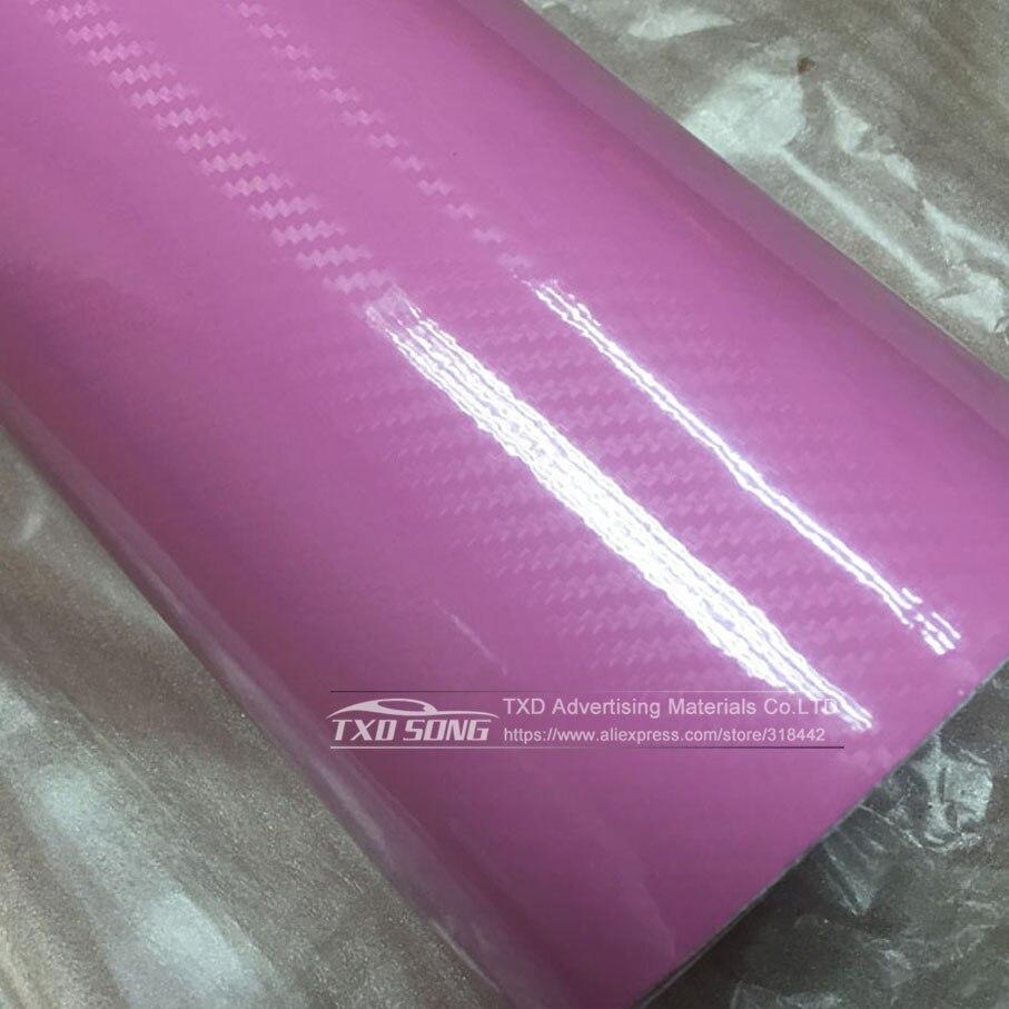 Высокое качество ультра-синий глянец 5D углеволоконная виниловая Обёрточная бумага 4D текстура супер глянцевая 5D углерода Обёрточная бумага s с 10/20 Вт, 30 Вт/40/50/60X152 см - Название цвета: Pink 3D texture