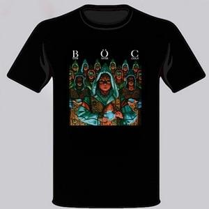 BLUE OYSTER CULT Fire Of Unknown Origin Rock Band Mens Black Tops Tee T Shirt Size S-3XL Unisex Men Women Tops T-Shirt(China)