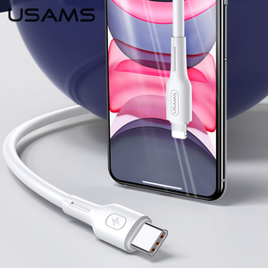 Image 2 - USAMS 30W for iPhone 11 Pro Max Type C TO Lightning PD Fast Charging Cable For iPhone X XR 8 7 USB Charger USB Type C Data Cable