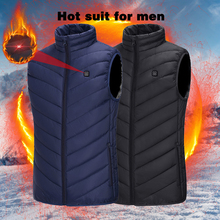 New Smart Heating Vest Jacket Outdoor Heating Film Electric Heating Clothes USB Heating Men Adjustable Vest Warm Vest cheap WENYUJH CN(Origin) Oxford Casual Solid 11581221 Lyocell O-Neck Heated Vest Jacket Men Outdoor Winter Electrical USB Heating Jacket