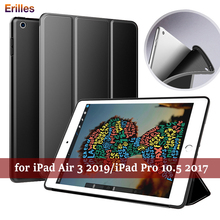 Silicone Case For iPad Pro 10.5 2019 Cover for Air 3 Flip Trifold Shockproof Back 2017 Auto Sleep Funda