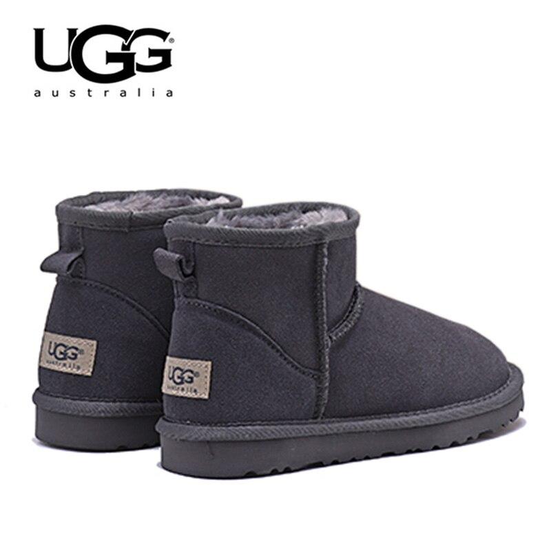 Bottes UGG 5854 bottes de neige pour femmes bottes d'hiver chaudes en fourrure bottes d'hiver classiques pour femmes bottes de neige en peau de mouton courtes UGG avec fourrure