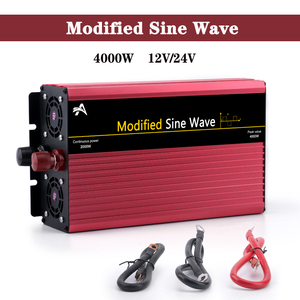 2000W/4000W Modified Sine Wave solar inverter DC 12V / 24V to AC 220V Car power voltage transformer boost converter step down