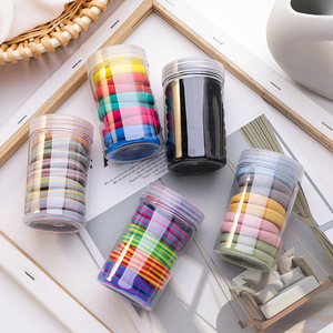 2020 New Korean Simple Color Stripes 10 Pcs/Set Cute Sweet Crude Elastic Hair Rubber Bands for Girl Fashion Hair Accessories