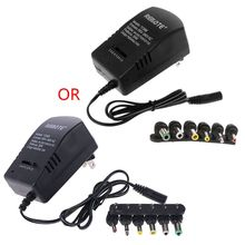 AC DC Universal Adapter Converter 3 4.5 6 7.5 9 12V US Power Charger 3A 30W 62KA