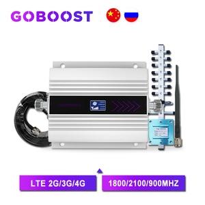 Image 1 - 4G DCS LTE 1800MHZ נייד אותות בוסטרים GSM טלפון נייד אות מגבר מהדר 3G 2100 UMTS GSM משחזר 2G 3G 4G בוסטרים