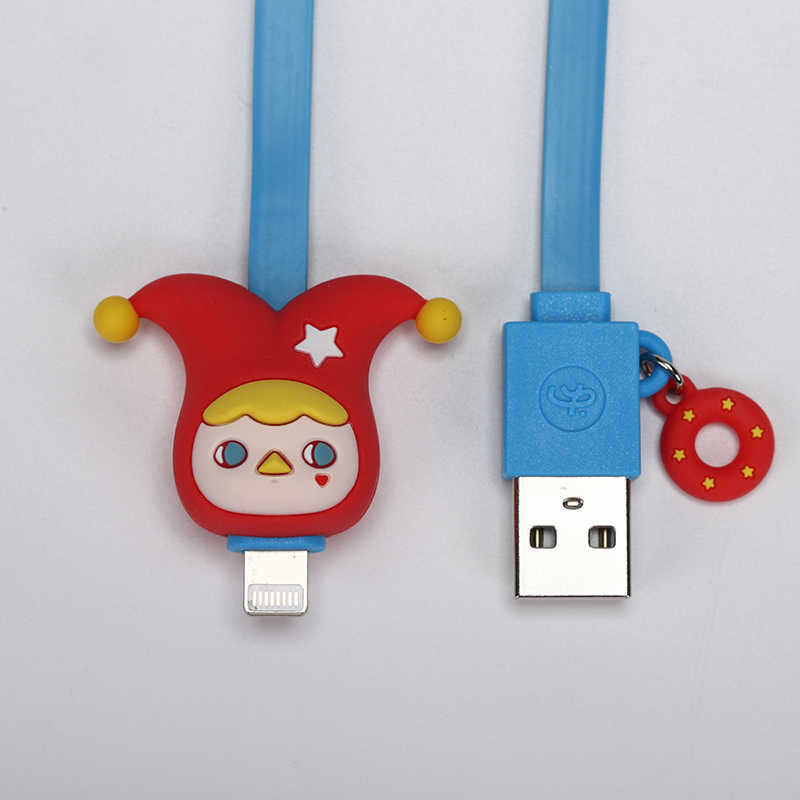 Caja ciega POPMART Pucky, serie de cables USB para dispositivos Apple, caja aleatoria, regalo, figura de acción, regalo de cumpleaños, juguete para niños, envío gratis