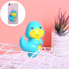 Kids Toy Cartoon Animal Slow Rising Scented Stress Relief Sticker Toys For Phone/notebook Squishy Simulation Biological Сквиши(China)