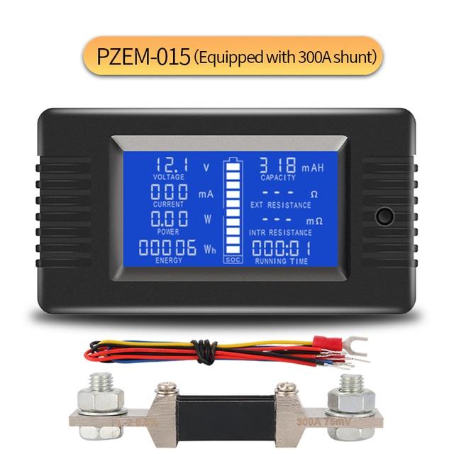 PZEM015 dc 200v 300A電圧計電流計カーバッテリーテスター容量抵抗電気電圧計モニター 12v 24v 48v 96v