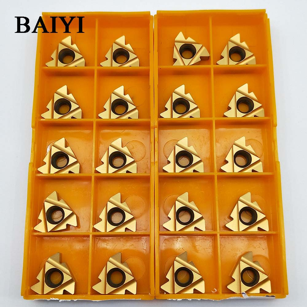 10pcs MMT16ER AG60 US735 Threaded turning inserts CNC TOOL Carbide inserts