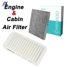 Dla Toyota Corolla Matrix E130 Typ Cars Autos filtr powietrza do silnika kabiny 17801-22020 88568-02020 pyłek węgiel aktywny 2003-2008