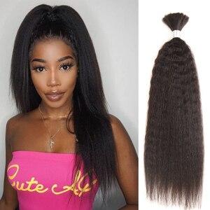 Черные перламутровые предварительно окрашенные бразильские волосы, вплетаемые пряди Yaki Striaght, человеческие волосы, объемные 1 пучок, плетен...