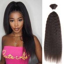 Zwarte Parel Pre Gekleurde Braziliaanse Haar Weave Bundels Yaki Striaght Menselijk Haar Bulk 1 Bundle Vlechten Hair Extensions Vlechten haar