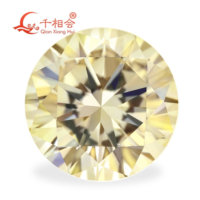 5mm yellow round cut cubic zirconia loose gemstones 4 for £1
