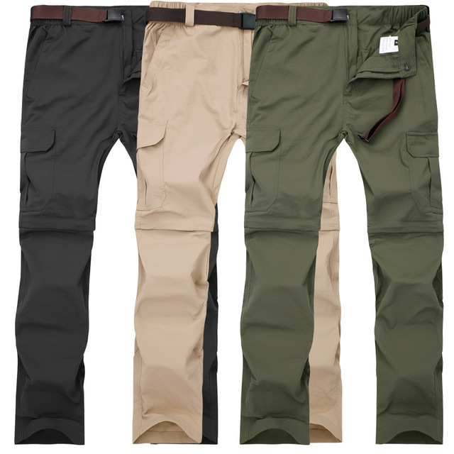 Men Military Detachable Cargo Pants Summer Quick Dry Breathable Male Trousers Joggers Army Pockets Waterproof Tactical Pants 7XL Others Men's Fashion