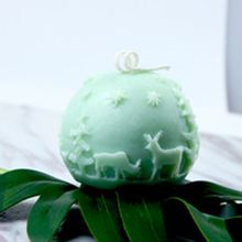 3D Рождество олень мяч Силиконовые свечи мыло Плесень DIY помадка испечь плесень 634E
