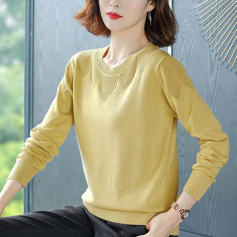 New-coming Autumn Winter O Neck Pullovers Sweaters Primer Shirt Long Sleeve Short Korean Slim-fit Tight Sweater