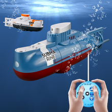 Mini RC Submarine Speed Remote Control Boat Waterproof Diving Toy Simulation Model Gift for Kids Boys Girls Children Gift