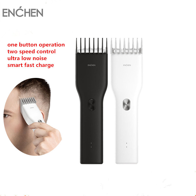 USB Rechargeable Men Beard Hair Clipper Ceramic Cutter Professional Cordless IPX7 Waterproof Hair Cutting Machine