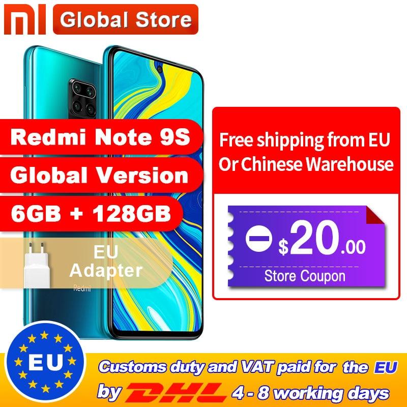 Spain Overseas Global Version Xiaomi Redmi Note 9S 6GB 128GB Smartphone Snapdragon 720G Octa core 5020 mAh 48MP Quad Camera(China)