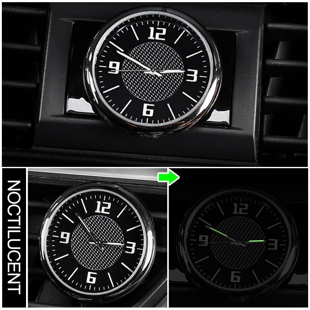 Gauge Car Clock Air Vent Quartz Portable Universal With Clip Accessories Mini Outlet Needle Interior Round Auto Luminous