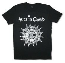 Alice in Chains Aztec Sun Black T Shirt New Official Adult AIC Newest Top TeesFashion Style Men Tee100% Cotton Classic tee(China)