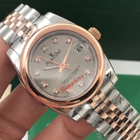 Famous Brand New Stainless Steel Sapphire Watch Women Lady Automatic Mechanical Diamond Silver Rose Gold Grey Datejust 31mm AAA+