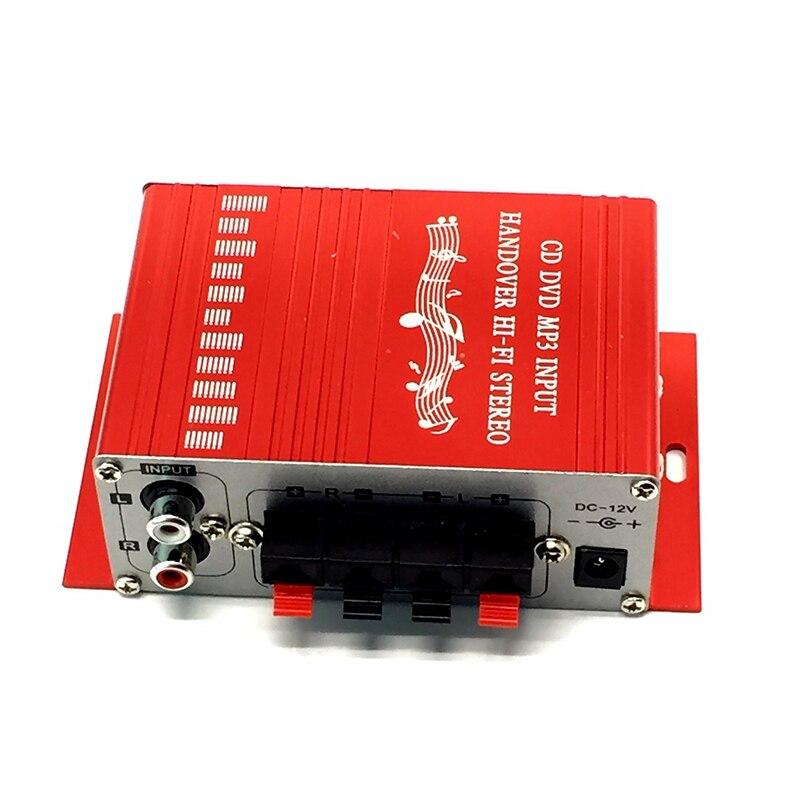 Мини 12 В 20 Вт* 20 Вт HiFi стерео аудио усилитель для 2 канала стерео DVD динамик автомобиля MP3 FM радио лодка Универсальный Портативный