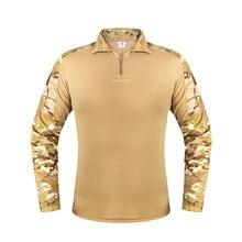 Тактическая рубашка multicam camoflauge с длинным рукавом быстросохнущие