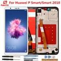 ЖК-дисплей и тачскрин с рамкой для Huawei P Smart, без битых пикселей, замена экрана для Huawei P Smart 2018, 5,65 дюйма